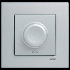 Выключатель-диммер (без рамки) серебро