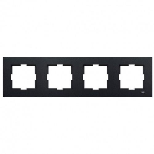 Рамка*4 универсальная дымчатый Viko Novella (92190644)