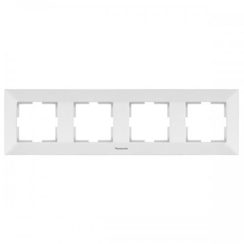 Рамка*4 универсальная белая Panasonic Arkedia (WMTF08042WH-BY)