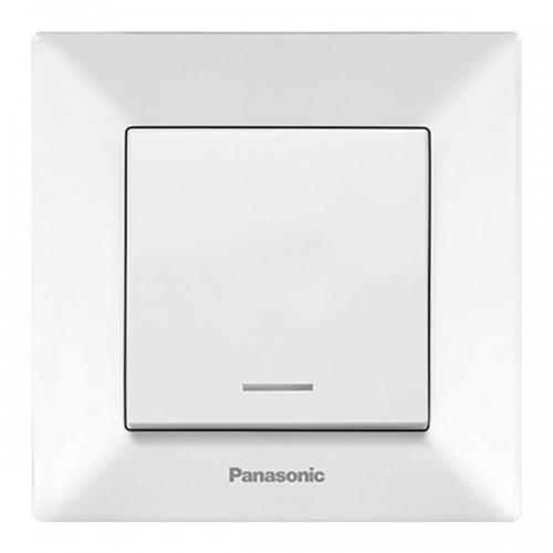 Выключатель 1-кл с индикацией (в сборе) белый Panasonic Arkedia (WMTC00022WH-BY)