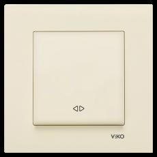 Выключатель 1-кл перекрестный(без рамки) кремовый