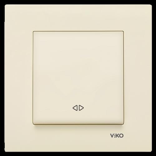 Выключатель 1-кл перекрестный (без рамки) кремовый Viko Karre (90963731)