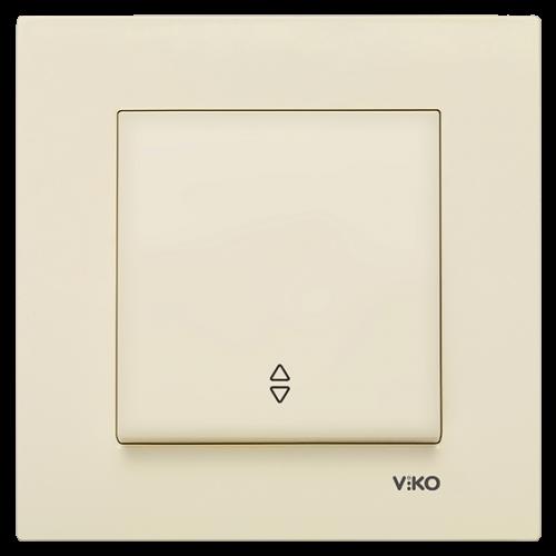 Выключатель 1-кл проходной (без рамки) кремовый Viko Karre (90963704)