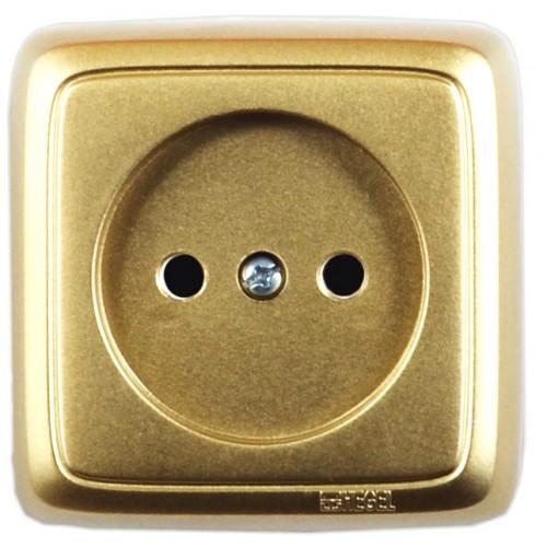 Розетка золото  Hegel Alfa IP20 (РА16-103-07)