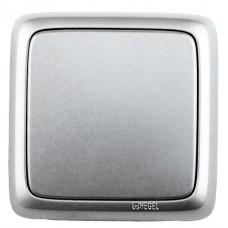 Выключатель 1-кл серебро