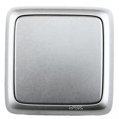 Выключатель 1-кл серебро  Hegel Alfa IP20 (ВА10-113-06)
