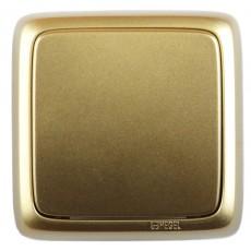 Выключатель 1-кл золото