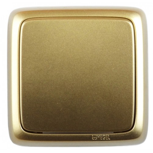 Выключатель 1-кл золото Hegel Alfa IP20 (ВА10-113-07)