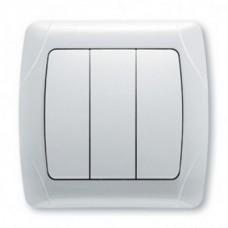 Выключатель 3-кл белый