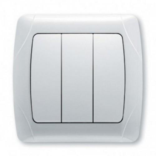 Выключатель 3-кл белый Viko Carmen (90561068)