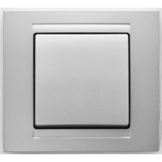 Выключатель 1-кл (без рамки) серебро 01 28 15 00 1