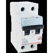 Автоматический выключатель 2P 16A хар-ка C 6kA