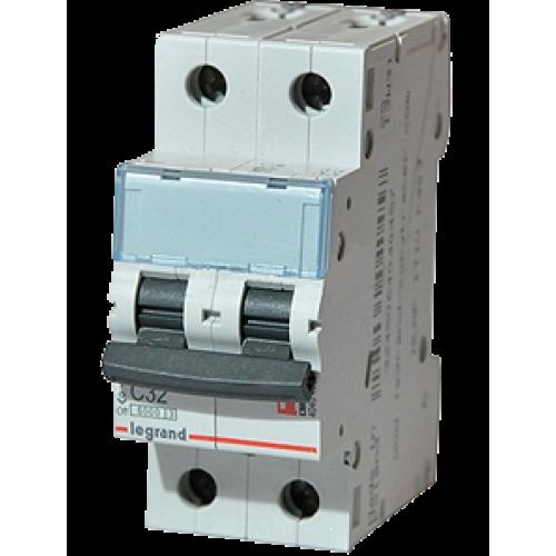 Автоматический выключатель C32A 2П 6000 С Legrand ТХ3 (404045)