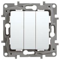 Выключатель 3-кл. белый