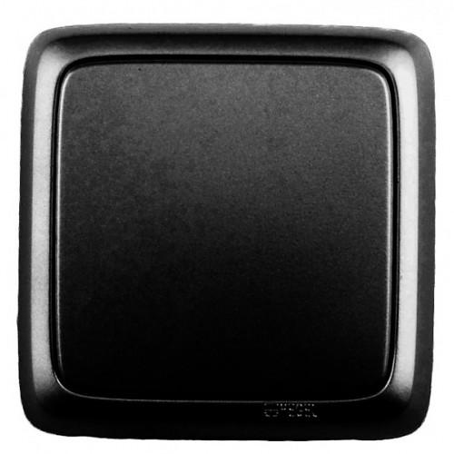 Выключатель 1-кл черный Hegel Alfa IP20 (ВА10-113-08)