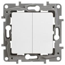 Выключатель 2-кл. белый