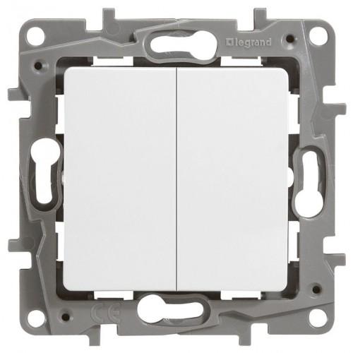 Выключатель 2-кл. белый Legrand Etika (672202)