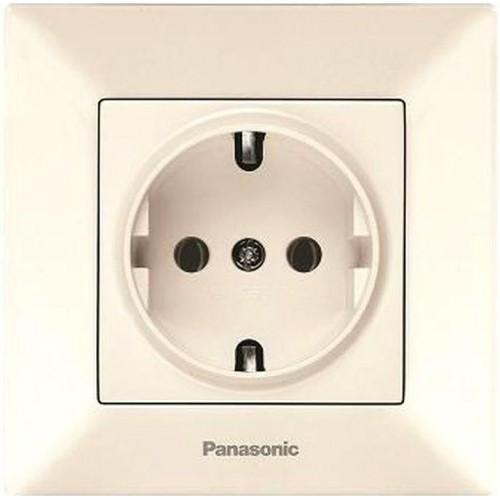 Розетка с/з (в сборе) кремовая Panasonic Arkedia (WMTC02022BG-BY)
