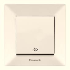 Выключатель 1-кл перекрестный (в сборе) кремовый