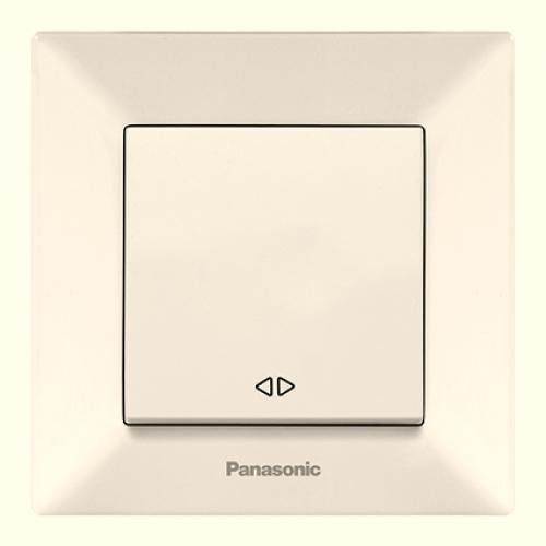 Выключатель 1-кл перекрестный (в сборе) кремовый Panasonic Arkedia  (WMTC00052BG-BY)
