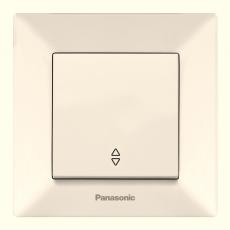 Выключатель 1-кл проходной (в сборе) кремовый
