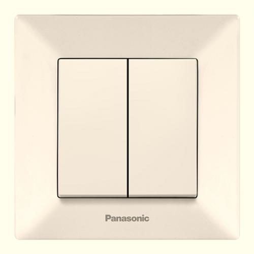 Выключатель 2-кл (в сборе) кремовый Panasonic Arkedia (WMTC00092BG-BY)