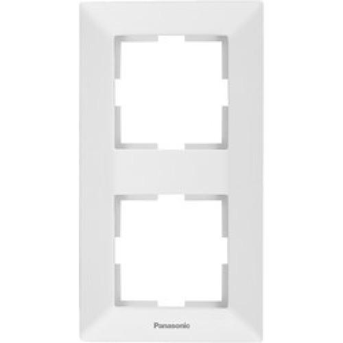 Рамка*2 вертикальная белая Panasonic Arkedia  (WMTF08122WH-BY)