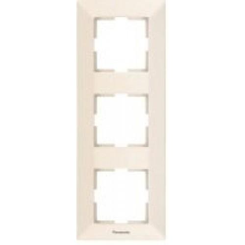 Рамка*3 вертикальная кремовая Panasonic Arkedia (WMTF08132BG-BY)