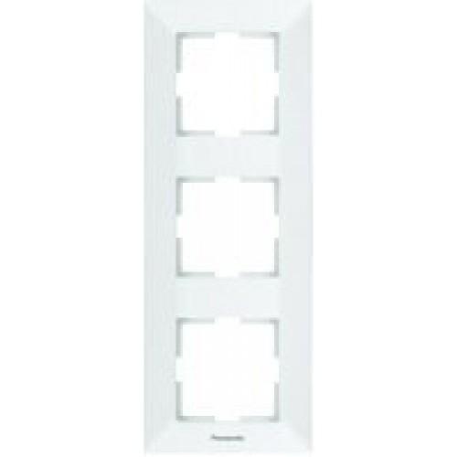 Рамка*3 вертикальная белая Panasonic Arkedia (WMTF08132WH-BY)