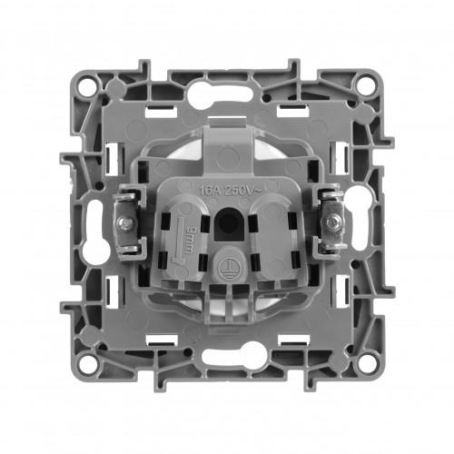 Розетка алюминий Legrand Etika (672434)