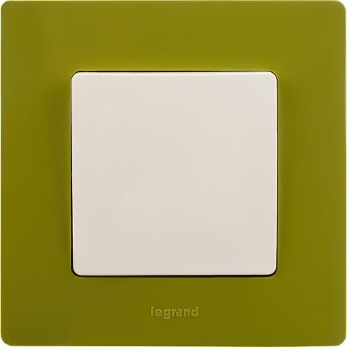 Рамка 1 пост зеленый папоротник Legrand Etika (672541)