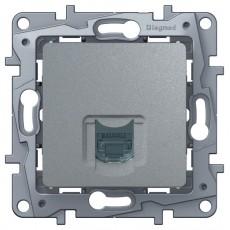 Розетка компьютерная (СAT6) алюминий