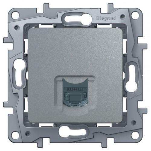 Розетка компьютерная (СAT6) алюминий Legrand Etika (672453)