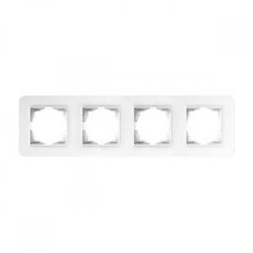 Рамка*4 белая Gunsan Radius (01379300-000145)