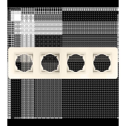 Рамка*4 кремовая Gunsan Radius (01371200-000145)