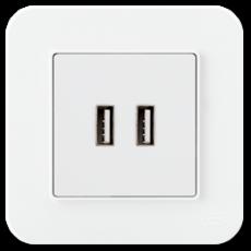 Розетка USB белый