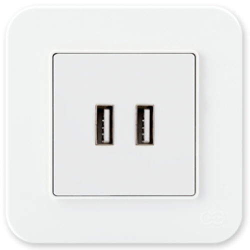 Розетка USB белая Gunsan Radius (01409300-157351)