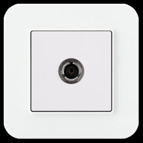 Розетка ТВ (без рамки) белая Gunsan Radius (01409300-159122)