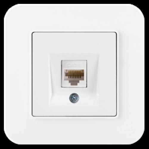 Розетка компьютерная (без рамки) белая Gunsan Radius (01409300-157130)