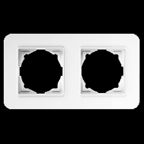 Рамка*2 белая Gunsan Radius (01379300-000141)