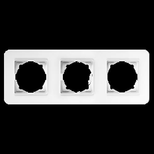 Рамка*3 белая Gunsan Radius (01379300-000143)