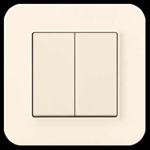 Выключатель 2-кл (без рамки) кремовый Gunsan Radius (01401200-150103)