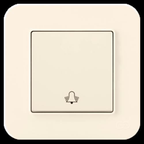Кнопка звонка кремовый Gunsan Radius (01401200-150111)