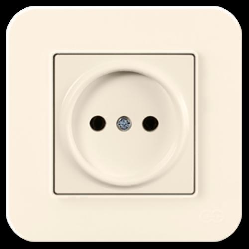 Розетка (без рамки) кремовая Gunsan Radius (01401200-151113)