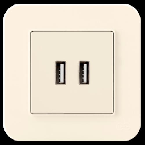 Розетка USB кремовая Gunsan Radius (01401200-157351)