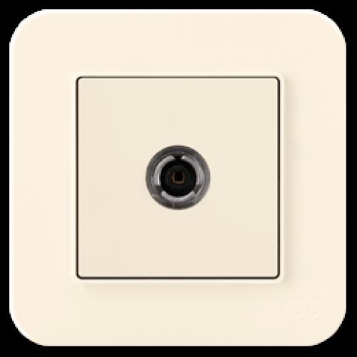 Розетка ТВ (без рамки) кремовая Gunsan Radius (01401200-159122)