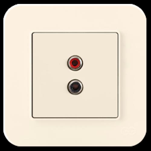 Розетка аудиовещания кремовая Gunsan Radius (01401200-157337)