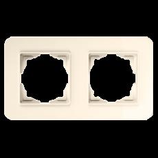 Рамка*2 кремовая