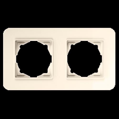 Рамка*2 кремовая Gunsan Radius (01371200-000141)