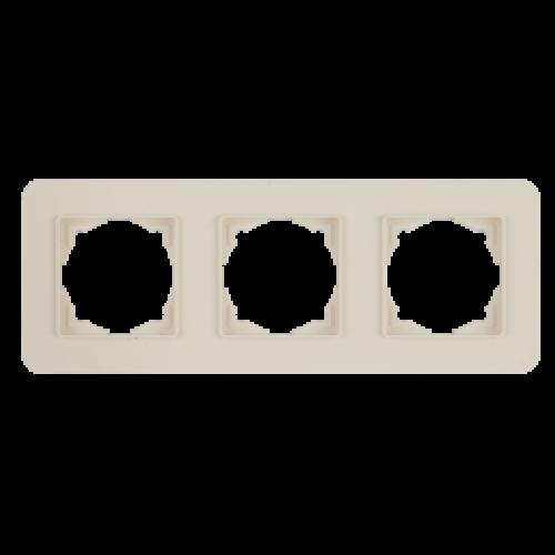 Рамка*3 кремовая Gunsan Radius (01371200-000143)